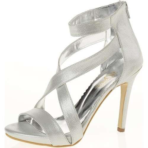 Derigo 2034 Gümüş Rengi Kadın Abiye Ayakkabı