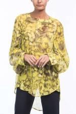 Kadın Sarı - Kahverengi Bluz