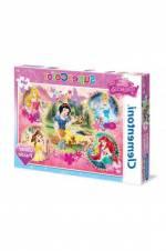mentoni 104 Parça Simli Prensesler Puzzle (Glitter Puzzle)