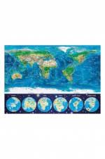 World Map Dünya Haritası 1000 Parça Neon Puzzle 16760