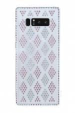 Eiroo Twinkler Samsung Galaxy Note 8 Pembe Taşlı Şeffaf Silikon Kılıf