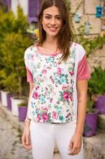 Kadın Mix Desenli Bluz