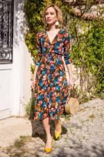 Kadın Mix Astarlı Kruvaze Elbise