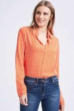 Kadın Mix Desenli Manşetli Gömlek