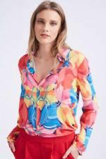 Kadın Mix Manşetli Premıum Gömlek