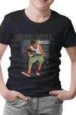 Justin Bieber - Guitar Erkek Siyah T-Shirt -
