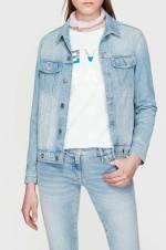 Kadın Jean Ceket Katy Shaded Bleach Studded