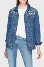 Kadın Jill Shine Vintage Jean Ceket