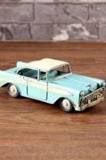 Nostaljik Mavi Chevrolet Metal Araba