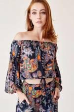 Kadın Çiçek Desenli Bluz
