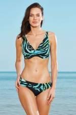 Kadın Desenli Balenli Toparlayıcı Bikini Takımı