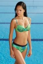 Kadın Desenli Cup'lı Tak-Çıkar Push-Up'lı Bikini Takımı
