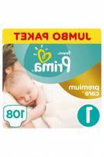Bebek Bezi Premium Care 1 Beden Yenidoğan Jumbo Paket 108 Adet