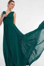 Yeşil Beli Korsajlı Abiye Elbise