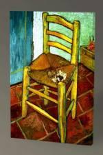 Vincent Van Gogh Piposuyla Vincet'in Sandalyesi - 60X40