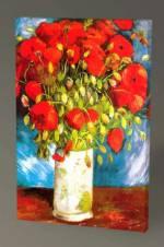 Vincent Van Gogh-Poppies 1886 Tablo - 60x40