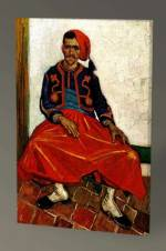 Vincent Van Gogh-The Seated Zouave Tablo - 60X40