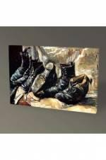 Vincent Van Gogh Üç Çift Ayakkabı Tablo - 75X50