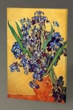 Vincent Van Gogh Vase of Irises Against a Yellow Background - 75X50