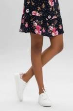 Beyaz Pudra Kadın Spor Ayakkabı