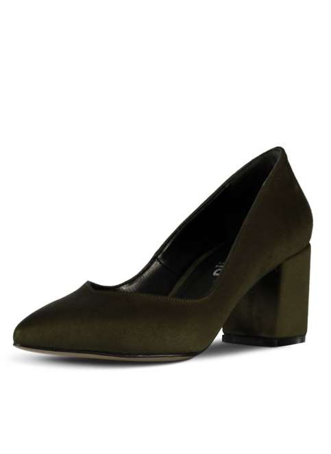 Marjin Kadın Kalin Topuklu Ayakkabı Siyah