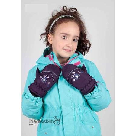 Çocuk Kar Eldiveni Kız Çocukları İçin B-814 Mor