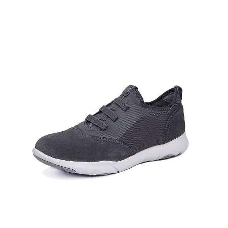 Geox Deri-Tekstil Erkek Ayakkabı-Dark Grey