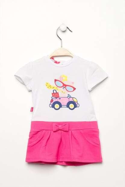 Fuşya Kız Çocuk Elbise